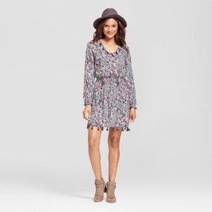 NWT Knox Rose Cinched Waist Tassle Trim Dress M